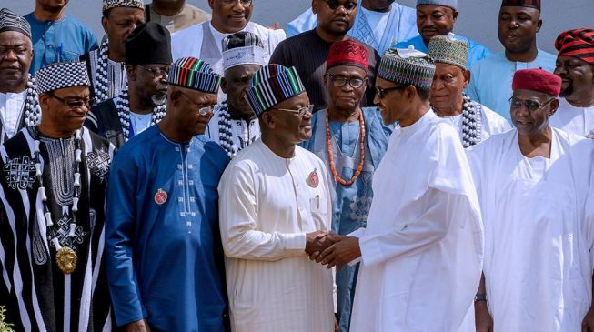 Image result for Accommodate your countrymen, Buhari begs Benue leaders