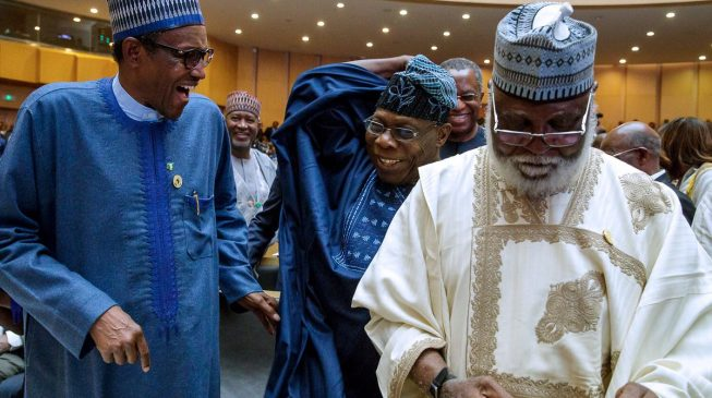 Buhari, Obasanjo meet in Ethiopia after 'letter bomb'