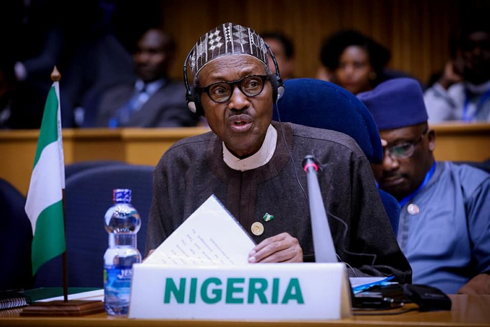 Buhari at AU peace and security council meeting