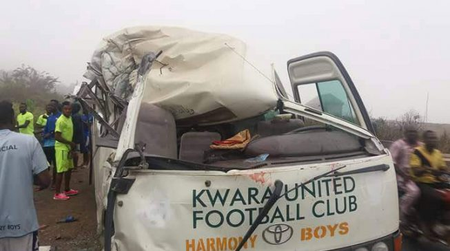 Kwara United players injured in auto crash on Lagos-Ibadan expressway