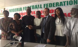 PHOTOS: NFF unveils Dennerby as coach of Super Falcons
