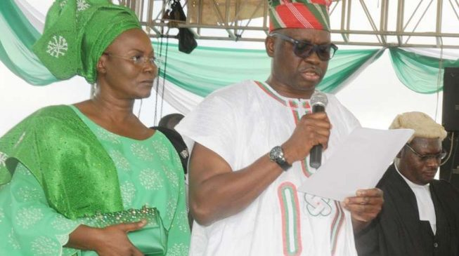 Fayose's wife: If you want to be disgraced, hunt for my husband's downfall