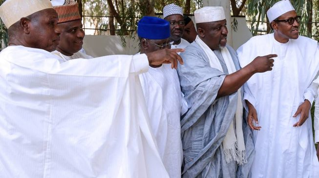 APC Governors Converge In Daura To Meet Buhari