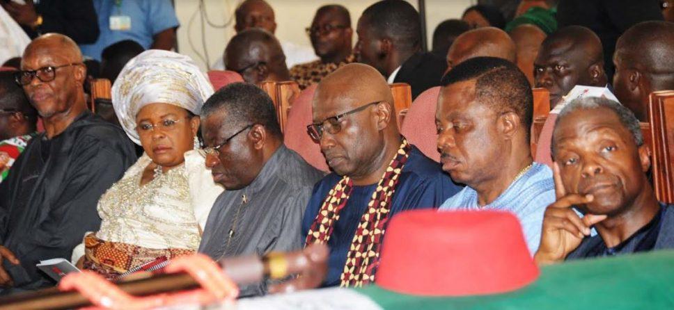 Osinbajo, Jonathan attend Ekweme's burial