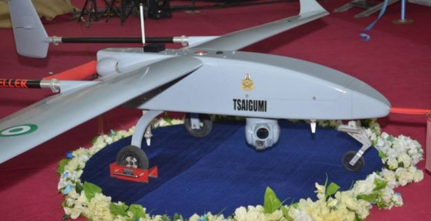 Buhari at induction of air force unmanned aerial vehicle