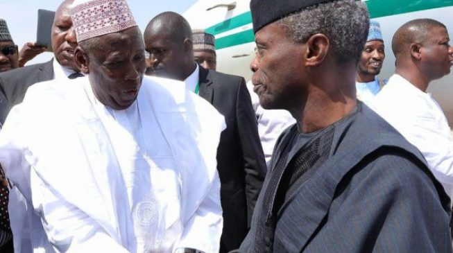 Osinbajo holds private meeting with Sanusi, Ganduje in Kano