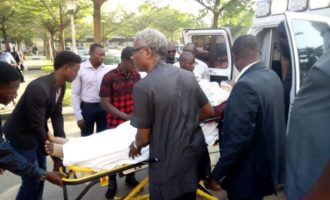 Drama as Metuh arrives court in ambulance