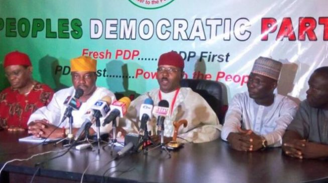 PDP faction inaugurates own NWC, 'ready to work with Obasanjo's coalition'