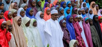 PHOTOS: Buhari hosts Dapchi schoolgirls at Aso Rock