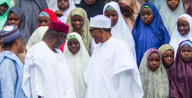 Dapchi schoolgirls feel at home in Aso Villa
