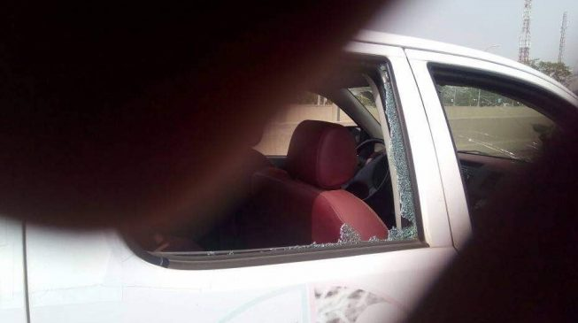 Cars destroyed as Abuja traders protest market demolition