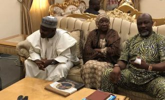 PHOTO: Declared wanted by the police, Dino makes condolence visit —  in Abuja