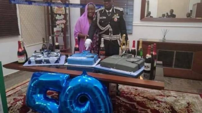 Image result for IGP was busy cutting birthday cake when his attention was needed in Benue