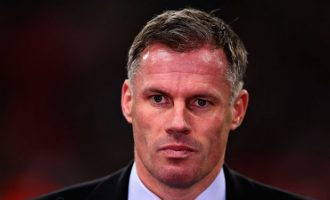 Sky Sports suspends Carragher over spitting incident