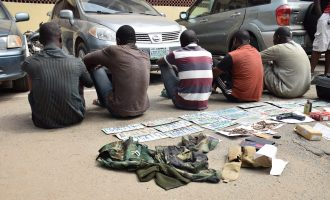 Police parade 'members of car snatching syndicate' in Lagos