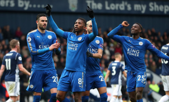 Iheanacho scores first EPL goal for Leicester in win over West Brom