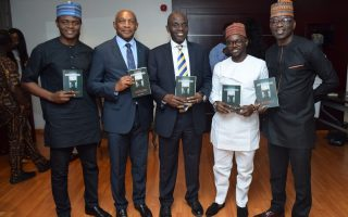 Dignitaries at launch of 'Stepping Out', a book on Nigeria's politics