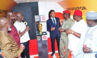 VIDEO: FIFA World Cup trophy unveiled in Abuja