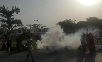 Police attack BBOG members at Unity Fountain