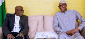 PHOTO: Tinubu visits Buhari in London