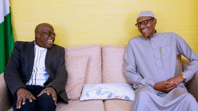 PHOTO: Tinubu visits Buhari in London