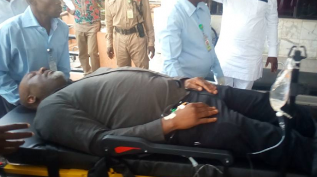 Melaye lands in hospital after jumping out of police vehicle