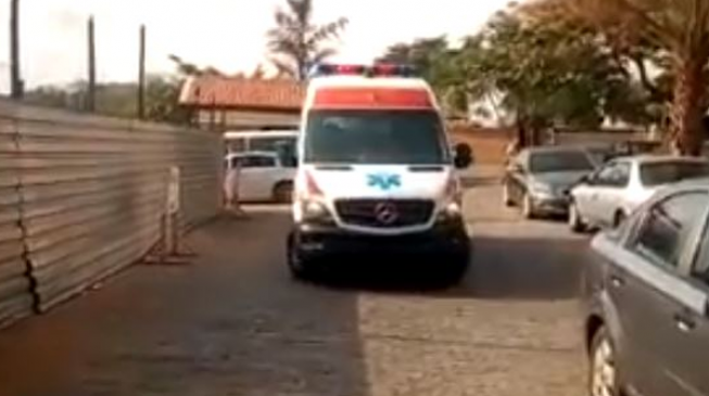 VIDEO The moment Melaye arrived hospital in ambulance