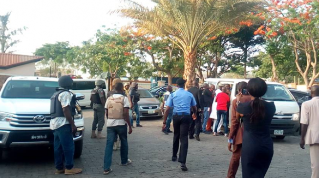 Image result for Update:Tension as Jimoh Moshood leads 30 policemen to hospital treating Melaye