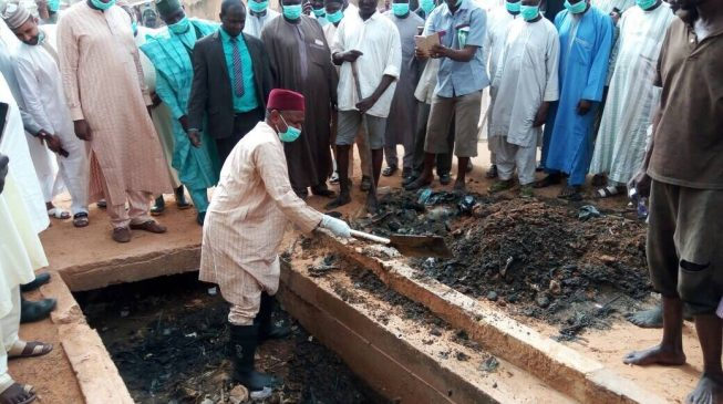 PHOTOS: Kebbi state governor clears drainage
