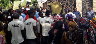 Protesters storm Melaye's residence as DSS denies senators access to their colleague