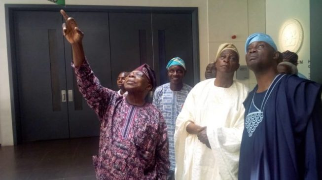 Obasanjo in closed door meeting with Falae, Okupe, others