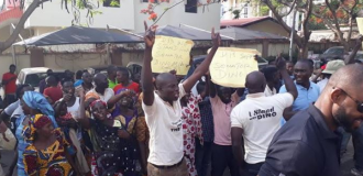 PHOTOS: IDPs troop to Melaye's residence