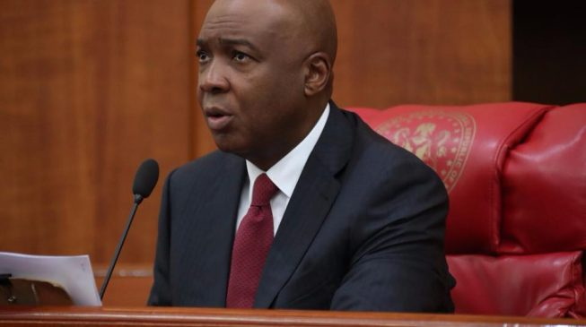 Saraki: Ministers, APC governors behind protest at national assembly