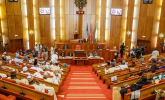Saraki swears in two APC senators