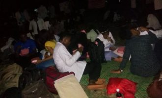 PHOTOS: UI medical students sleep outside after eviction from hostel