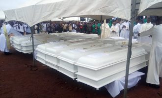 PHOTOS: Bishops flood Benue for burial of Catholic priests