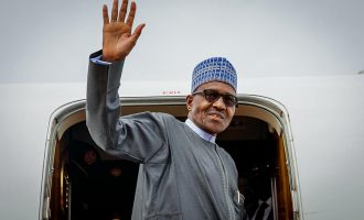 Buhari departs for London with few aides