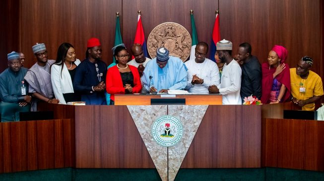 Image result for Please postpone your campaigns till after 2019 - Buhari begs Nigerian youth