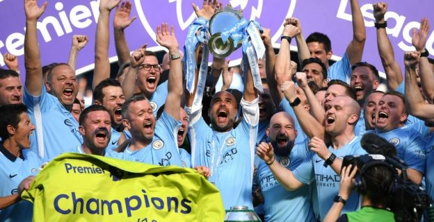 Manchester City lift third premier league trophy