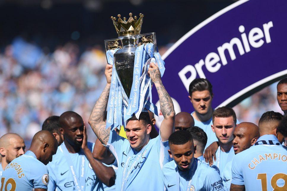 Manchester City lift third premier league trophy