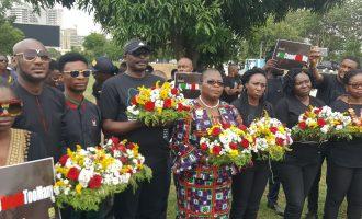 PHOTOS: 2baba, Ezekwesili, Odinkalu mourn victims of killings