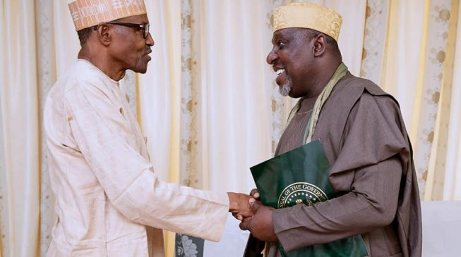 APC congress: Okorocha briefs Buhari on Imo crisis