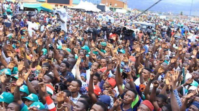 PHOTOS: Thousands storm PDP mega rally in Osun