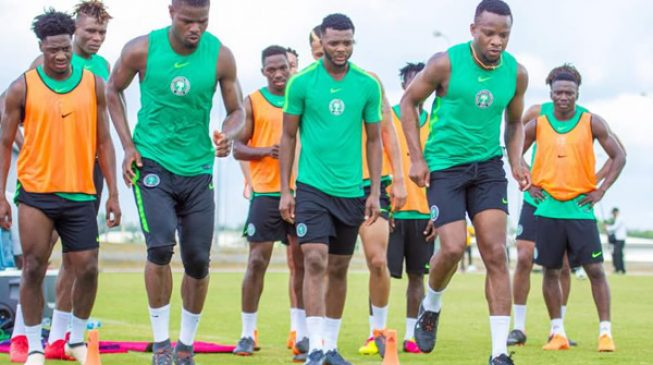 PHOTOS: Super Eagles stars training ahead of Congo game