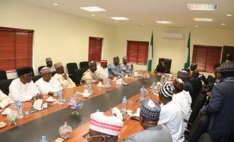 PHOTOS: Saraki leads nPDP members to meeting with Osinbajo