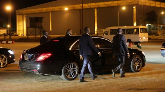 Image result for Buhari still using cars Jonathan left in office