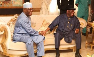 PHOTOS: Atiku visits Jonathan in Bayelsa