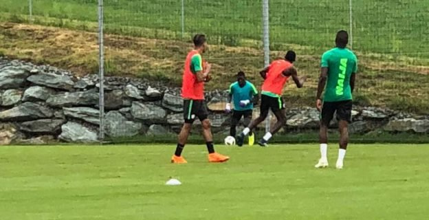Super Eagles train in Austria