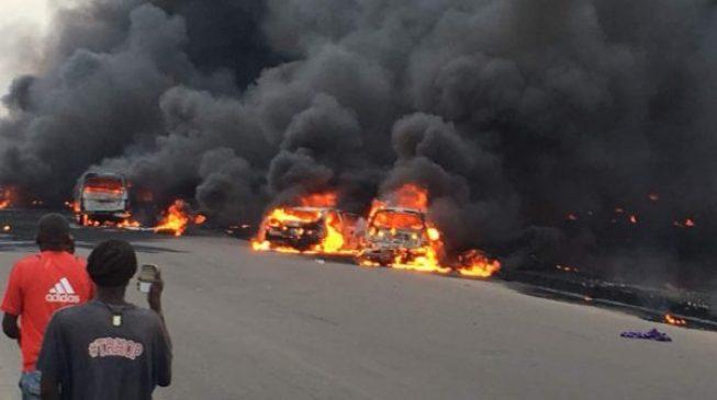 'Nine killed, 54 vehicles' burnt in Lagos tanker fire