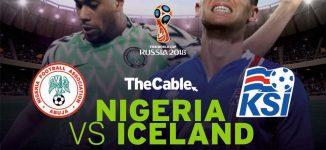 LIVE: Nigeria v Iceland